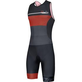 Santini Sleek 775 Trisuit Mouwloos Heren, zwart/oranje
